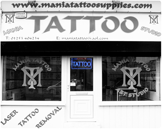 Tattoo shop in Blackpool. Station Road. South Shore